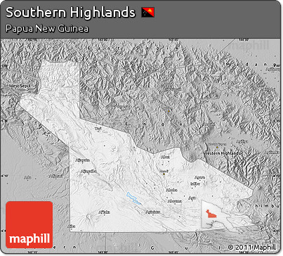 Free Gray Map of Southern Highlands