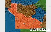 Political Map of Southern Highlands, darken