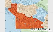 Political Map of Southern Highlands, lighten