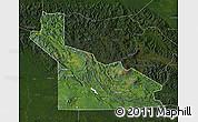 Satellite Map of Southern Highlands, darken
