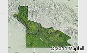 Satellite Map of Southern Highlands, lighten