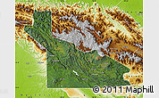 Satellite Map of Southern Highlands, physical outside