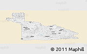 Classic Style Panoramic Map of Southern Highlands, single color outside