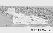 Gray Panoramic Map of Southern Highlands