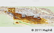 Physical Panoramic Map of Southern Highlands, lighten