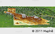 Physical Panoramic Map of Southern Highlands, satellite outside