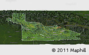 Satellite Panoramic Map of Southern Highlands, darken