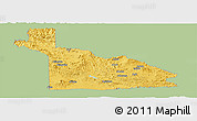 Savanna Style Panoramic Map of Southern Highlands, single color outside