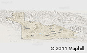 Shaded Relief Panoramic Map of Southern Highlands, lighten