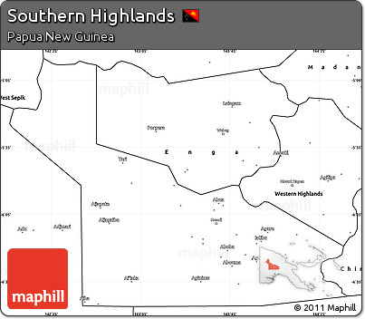 Free Blank Simple Map of Southern Highlands