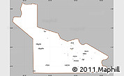 Gray Simple Map of Southern Highlands, cropped outside