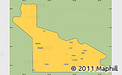 Savanna Style Simple Map of Southern Highlands, cropped outside