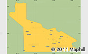 Savanna Style Simple Map of Southern Highlands, single color outside