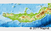 Physical 3D Map of West New Britain