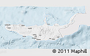 Silver Style 3D Map of West New Britain, single color outside