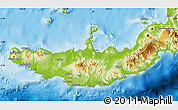 Physical Map of West New Britain