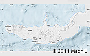 Silver Style Map of West New Britain, single color outside