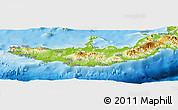 Physical Panoramic Map of West New Britain