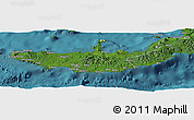 Satellite Panoramic Map of West New Britain