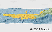 Savanna Style Panoramic Map of West New Britain
