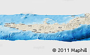 Shaded Relief Panoramic Map of West New Britain