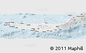 Silver Style Panoramic Map of West New Britain