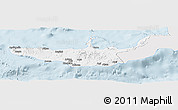 Silver Style Panoramic Map of West New Britain, single color outside