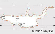Classic Style Simple Map of West New Britain, cropped outside