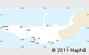 Classic Style Simple Map of West New Britain, single color outside
