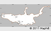 Gray Simple Map of West New Britain, cropped outside