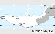 Gray Simple Map of West New Britain