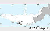 Gray Simple Map of West New Britain, single color outside
