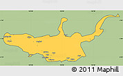 Savanna Style Simple Map of West New Britain, cropped outside