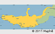 Savanna Style Simple Map of West New Britain