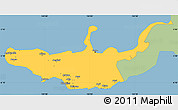 Savanna Style Simple Map of West New Britain, single color outside