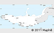 Silver Style Simple Map of West New Britain