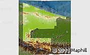 Physical 3D Map of West Sepik, darken
