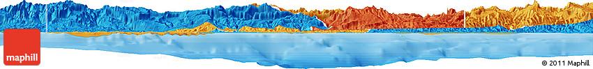 Political Horizon Map of West Sepik
