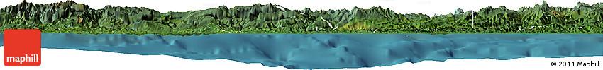 Satellite Horizon Map of West Sepik