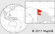 Blank Location Map of West Sepik, highlighted country