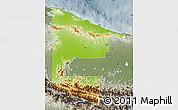 Physical Map of West Sepik, semi-desaturated