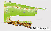 Physical Panoramic Map of West Sepik, cropped outside