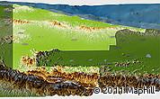 Physical Panoramic Map of West Sepik, darken