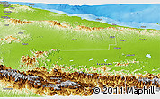 Physical Panoramic Map of West Sepik
