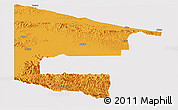 Political Panoramic Map of West Sepik, cropped outside