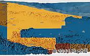 Political Panoramic Map of West Sepik, darken