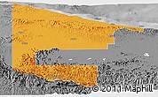 Political Panoramic Map of West Sepik, desaturated