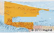 Political Panoramic Map of West Sepik, lighten