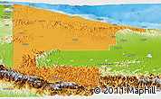 Political Panoramic Map of West Sepik, physical outside