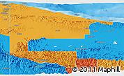 Political Panoramic Map of West Sepik